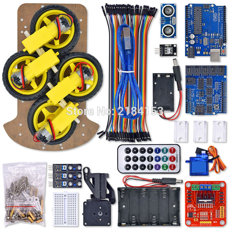 платформа multi joint 6 leg robot 4 roboblock Multi-Functional 4WD Robot Car Chassis Kits UNO R3 170 point Mini breadboard For Robot Car Assembly Kit