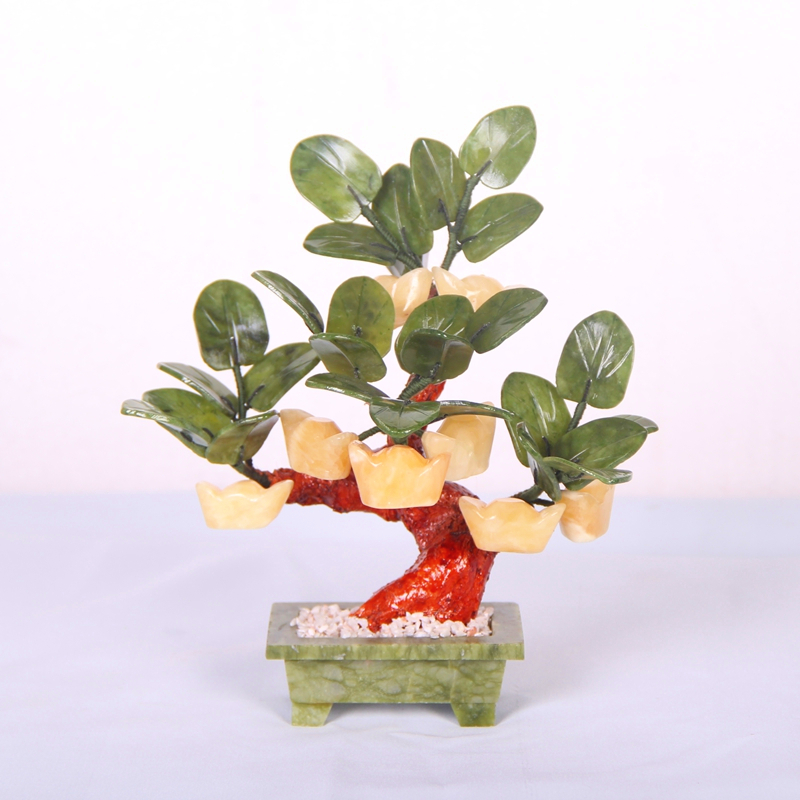Jade pot 8 gold tree shaking Qian Shu rich tree living room decoration Home Furnishing jewelry crafts gifts enrichment блокировка руля car of qian