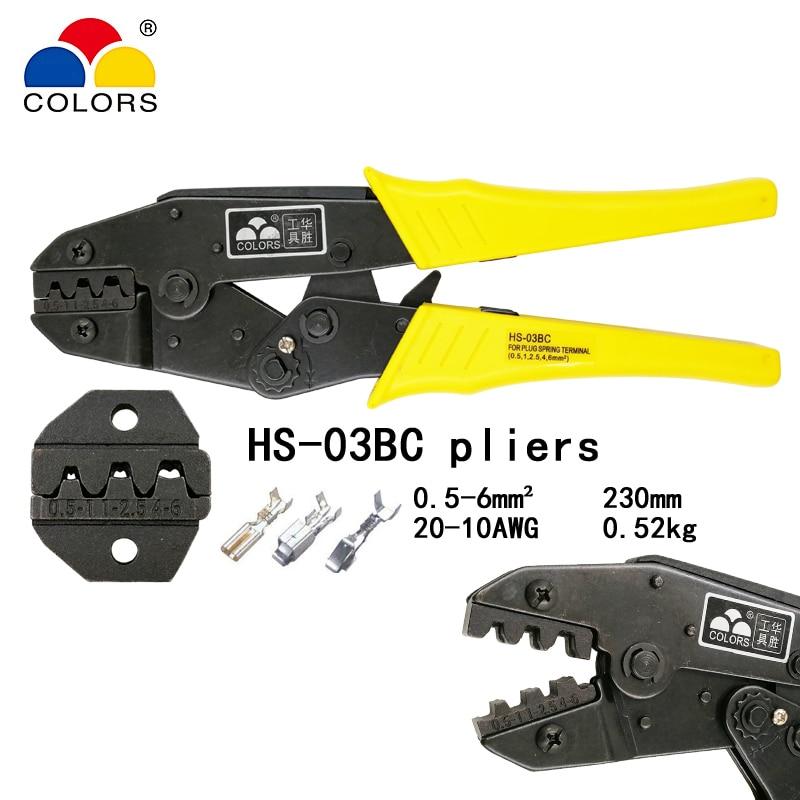FARBEN HS-03BC draht crimpen zange kapazität 0,5-6mm2 20-10AWG für ...