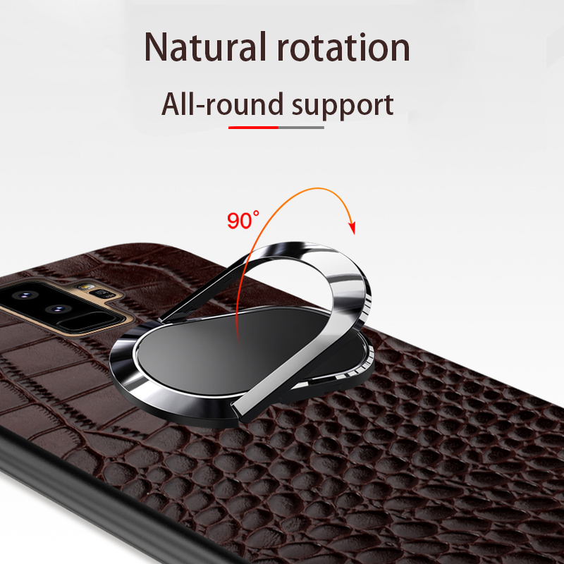 Real leather Case For Samsung Galaxy a50 a70 a30 a8 a7 2018 Note 10 9 Luxury Magnetic Kickstand back cover For s10 s9 s7 s8 Plus