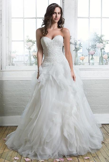 Robe Mariee 2016 Sexy Robes De Mariee Plus Taille Cristal Robes De Mariee Une Ligne Fleur Robe De Mariage Aliexpress