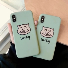 Loving pig head Case For iPhone X MAX XR Xs Soft Candy Phone 7 8 6 6s plus phone case cover coque funda