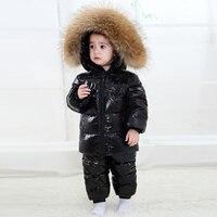 2019 новый детский комплект одежды для русской зимы, утепленный зимний комбинезон для мальчиков 2 6 лет, 90% белый утиный пух, зимняя одежда для д