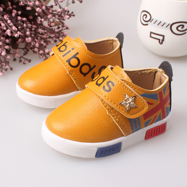 Baby Sport Shoes Letter Anti-skid brand British style Boys Girls Baby good quality Red Casual shoes Sneakers Kids Flats Shoes
