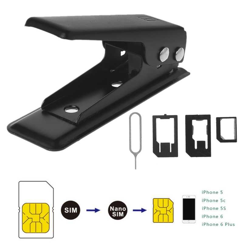 Mobile Phone Nano-Micro SIM Single Card Cutter Cutting For iPhone 6 5 Android