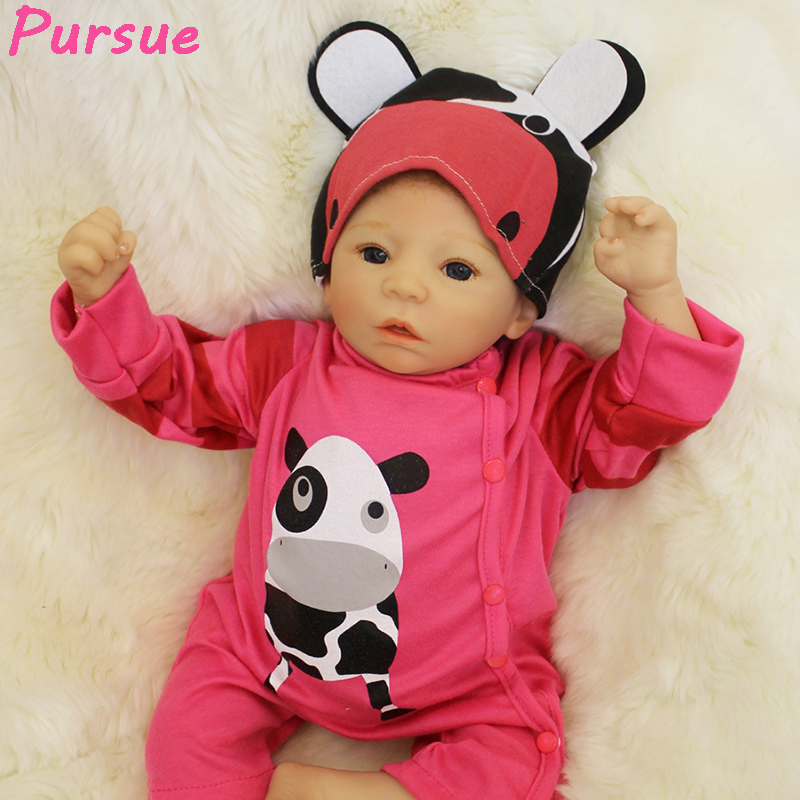 "Здесь продается  Pursue 22""/55 cm Cute Red Newborn Vinyl Silicone Reborn Baby Dolls for Children Girls Boys Best Gift Doll bebe reborn baby alive  Игрушки и Хобби"