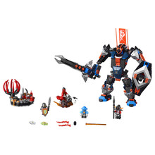 LEPIN Nexo Knights Axl Black Knight Mech Combination Marvel Building Blocks Kits Toys Minifigures Compatible Legoe Nexus