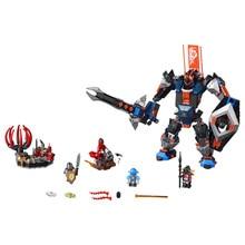 LEPIN Nexo Knights Axl Black Knight Mech Combination Marvel Building Blocks Kits Toys Compatible Legoe Nexus