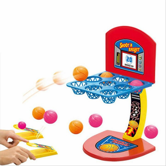 Toys For Children Mini Basketball Shooting Board Game Learning Education math toys Marble Game Plastic sensory toys