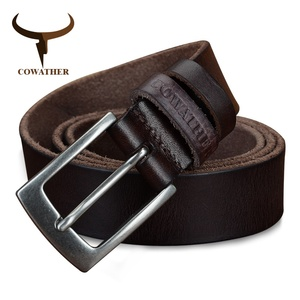 Image 3 - COWATHER top cow genuine leather men belts 2019 newest arrival three color hot design jeans belt for male original brand