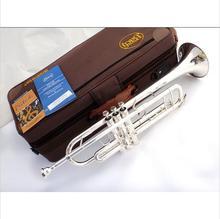 Dhl, ups envío de alto nivel lt180s-43 pequeño instrumento musical de latón plateado plata bach trompeta bach trompeta profesional de alto grado.