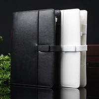 Brand Business Leather diary Spiral notebook paper A5 with 4G U disk 80 sheets Agenda planner organizer Office Supplies Gift