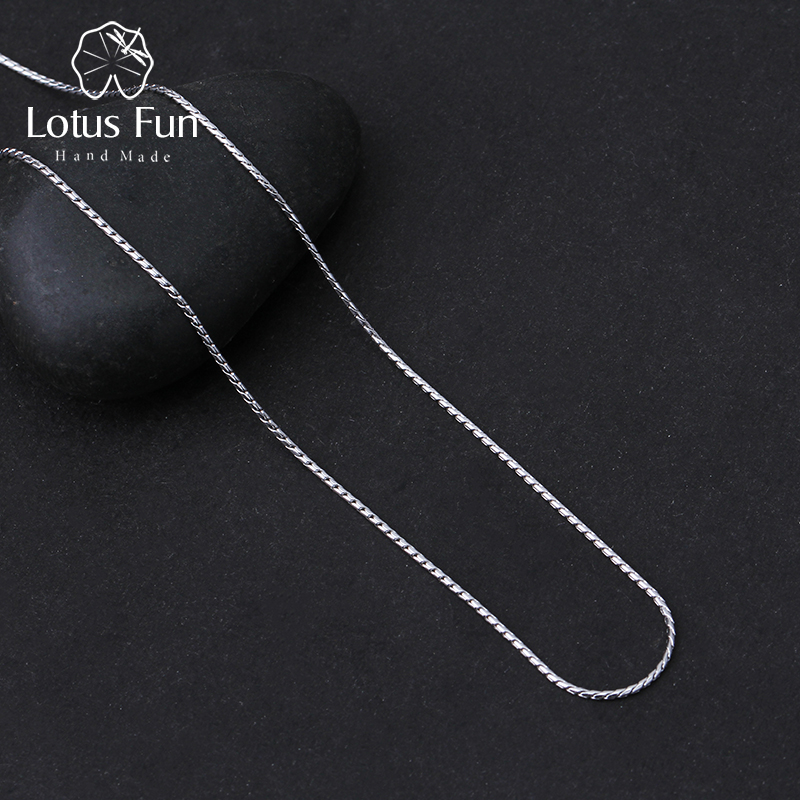 Lotus Spaß Echt 925 Sterling Silber Edlen Schmuck Hohe Qualität Klassische Design Halskette Kette für Frauen Acessorio Collier