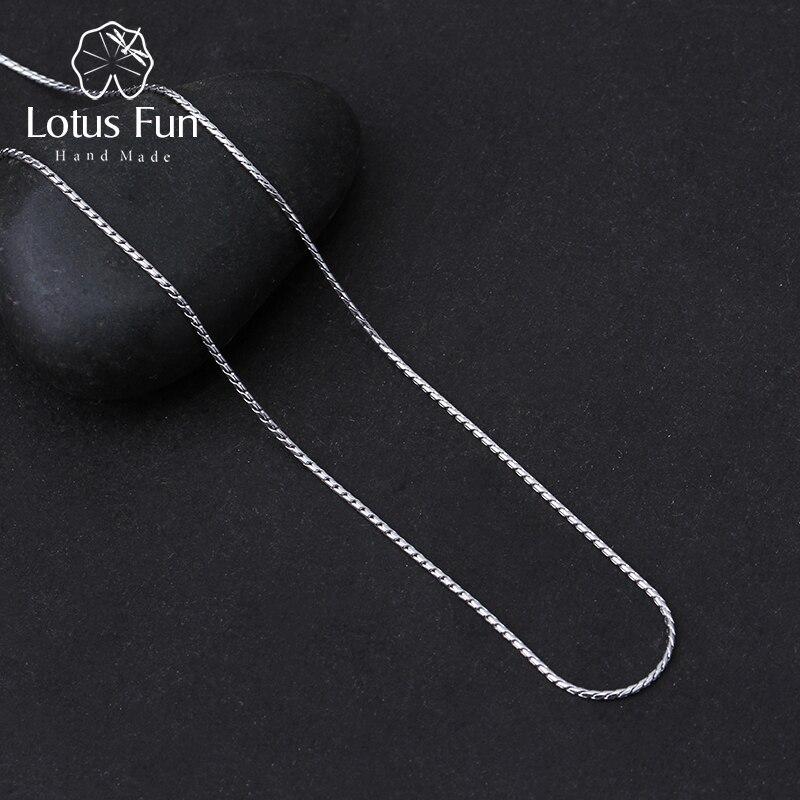Lotus Real 925 plata esterlina bien de alta calidad de joyería de diseño clásico collar de cadena para las mujeres Acessorio Collier