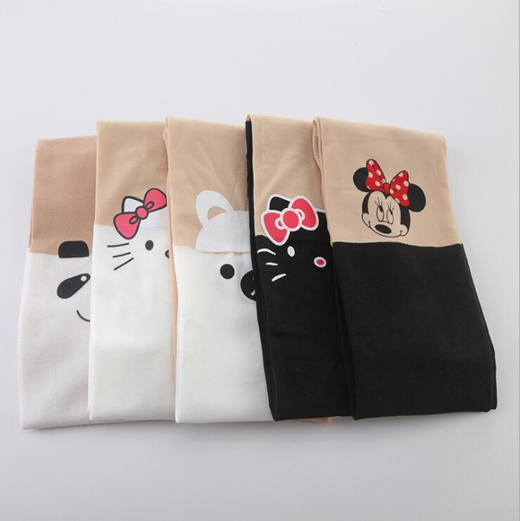Heerlijk Lente Zomer Kinderen Meisje Nep Midden Leggings Kat Konijn Minnie Hello Kitty Stiksels Kousen Dunne 17 Soorten Tz05