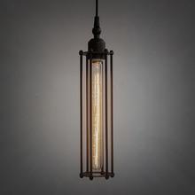 Старинные железа подвесной легкой промышленности E26 / E27 эдисон лампы американский стиль фонари фикстуры RH лофт кофе бар ресторан огни