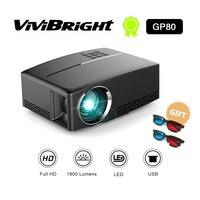 Светодиодный hd проектор 1800 люменов 4 K проектор Android 6,0 светодиодный WiFi видеопроектор GP80/GP80UP Портативный интеллектуальные проекторы
