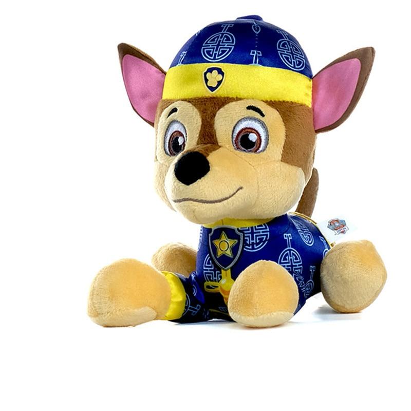 Натуральная Щенячий патруль плюшевые игрушки Щенок патруль Patrulla Canina игрушки трекер Chase детская игрушка в подарок 1 шт.