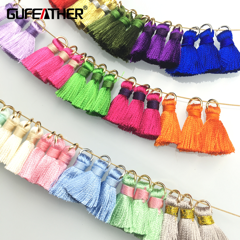 GUFEATHER/Tassel/20MM silk Brush earrings accessories/tassel for Hand made jewelry/jewelry findings/jewelry materials 10pcs/lot