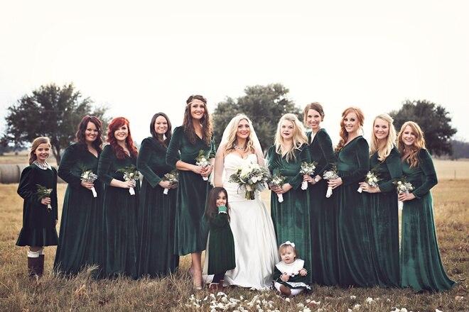 Popular Velvet Bridesmaid Dresses-Buy Cheap Velvet Bridesmaid ...