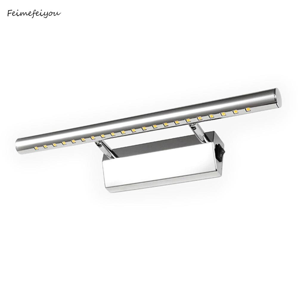 3 W/5 W/7 W LED 벽 빛 욕실 거울 따뜻한 화이트/화이트 washroon 벽 램프 비품 알루미늄 및 스테인레스 스틸 스위치