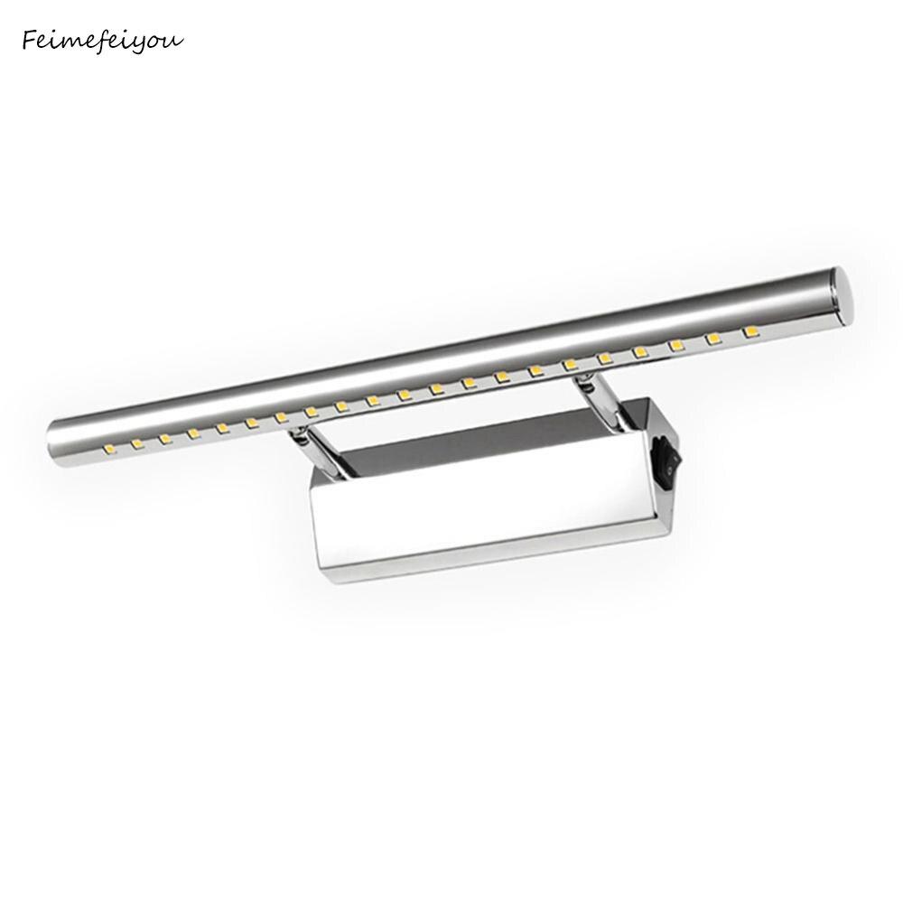3 W/5 W/7 W LED Luz de pared espejo de baño blanco cálido/blanco washroon accesorios de lámpara de pared aluminio y acero inoxidable con interruptor