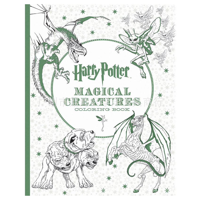 96 Pages Thick Paper Harry Potter Coloring Book For Adults Children Kids Secret Garden Series High