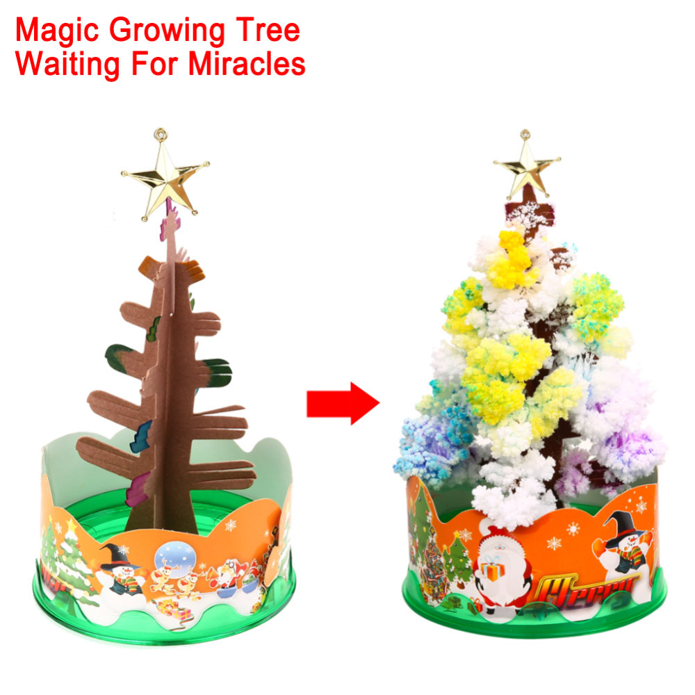 Peruvian christmas ornaments - Magic Growing Paper Interactive Tree Magical Grow Trees Xmas Kids Toy Gift Xmas Tree Arbre Magique
