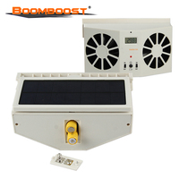 HIGH QUALITY Portable Car Solar Fan Air Vent Cool Fan Cooler Ventilation System Radiator Free Shipping Without battery