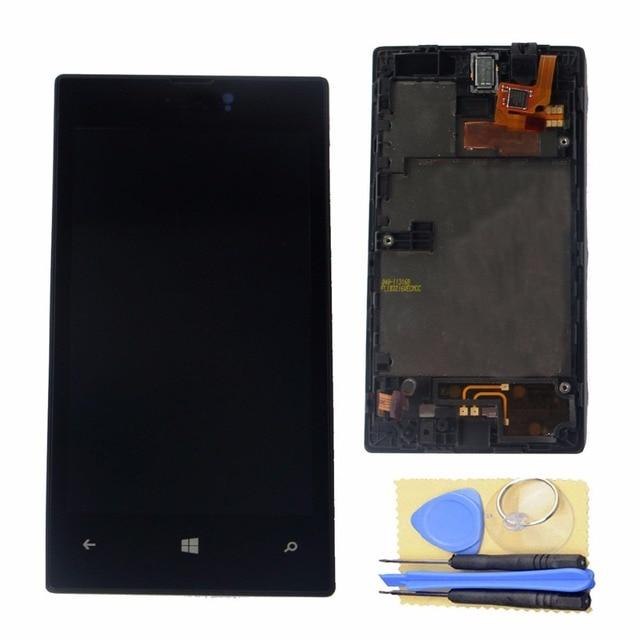 Жк-дисплей сенсорный экран планшета сборка / W часть рамы для Nokia Lumia 520