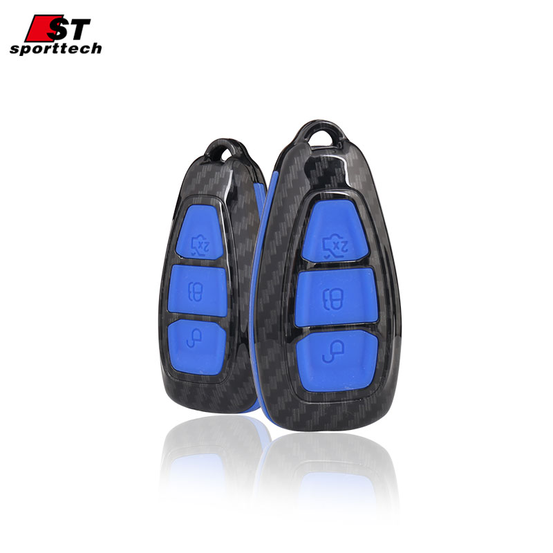 Car Styling Keychain For Ford Focus 2 3/ST Mondeo/Kuga/Eco sport/Edge/Exploror/Fiesta/Mustang/ Key Ring Case Cover Holder Parts dewtreetali car ignition key ring led light decoration sticker for for auto accessories for ford focus 2 focus 3 kuga mondeo
