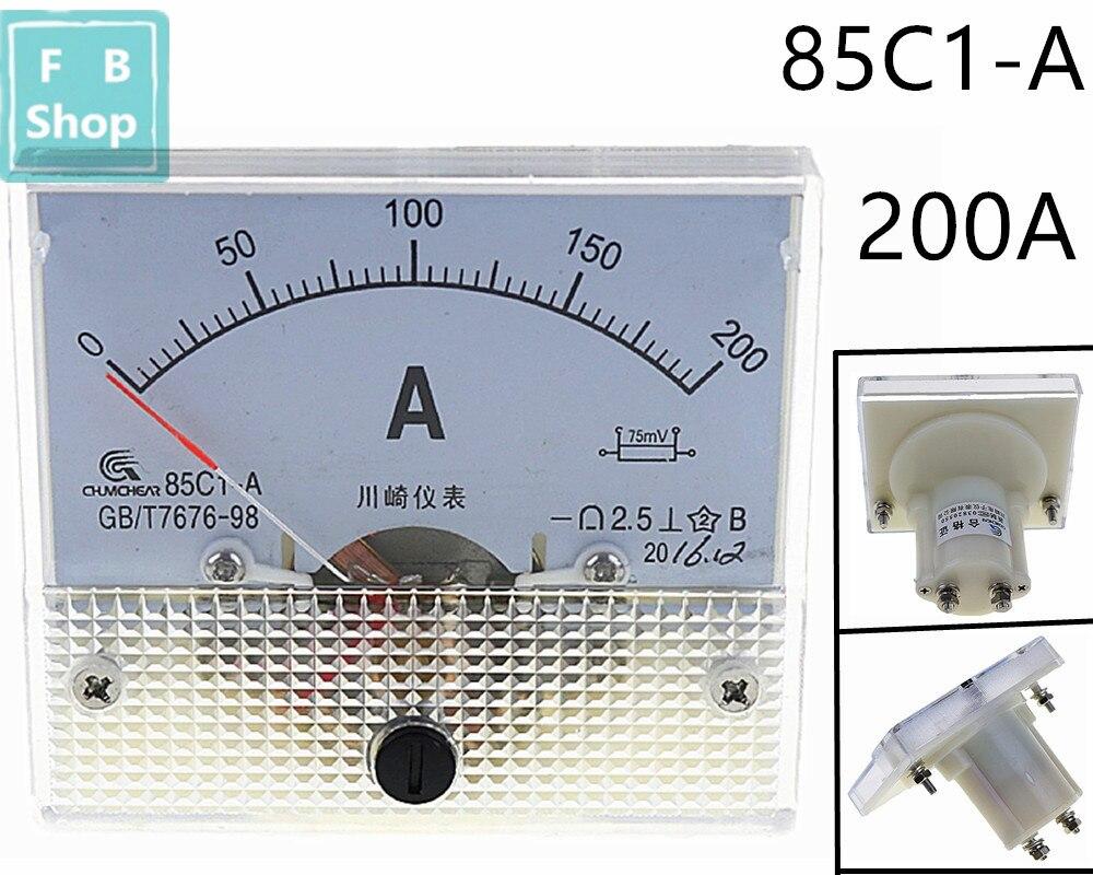 Аналоговый измерительный прибор постоянного тока 85C1-A 200A, амперметр переменного тока 85C1 0-200A, 1 шт.