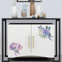 Flowers Refrigerator PVC Mural Art 8 Colors Removable DIY Wall Sticker Kicthen Bathroom Toilet Stool Poster Decals Home Decor