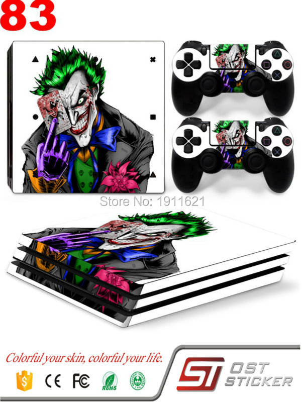 Vinyl Protector Cover Skin Stickers Decal for Sony Playstation Play Station 4 pro PS4 pro Consoles and Two Controller Skins