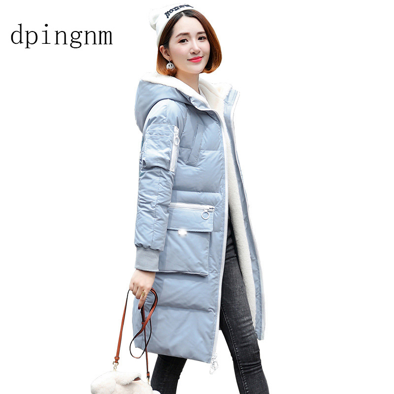 Hooded Fur Collar Winter   Down     Coat   Jacket Long Warm Women Casaco Feminino Abrigos 2018 Parkas Outwear   Coats   Ru60