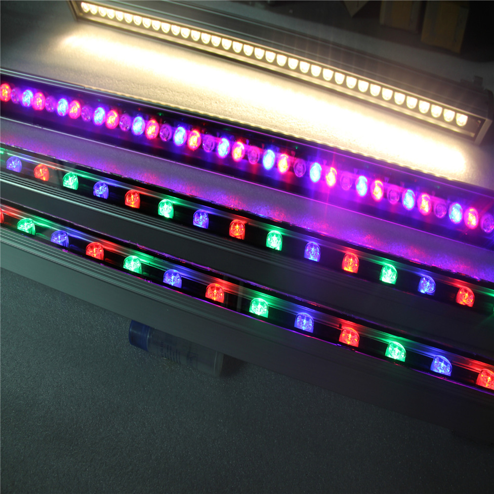 16key remote controller AC85~265V RGB led bar light outdoor waterproof 36w led wall washer light цена
