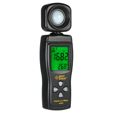 SMART SENSOR Mini Digital Lux Meter LCD Display Handheld Illuminometer Luminometer Photometer Luxmeter Light Meter 0-200000 Lux hot digital lux light meter gm1020 usb lcd backlight display handheld photometer up to 200 000 lux meter