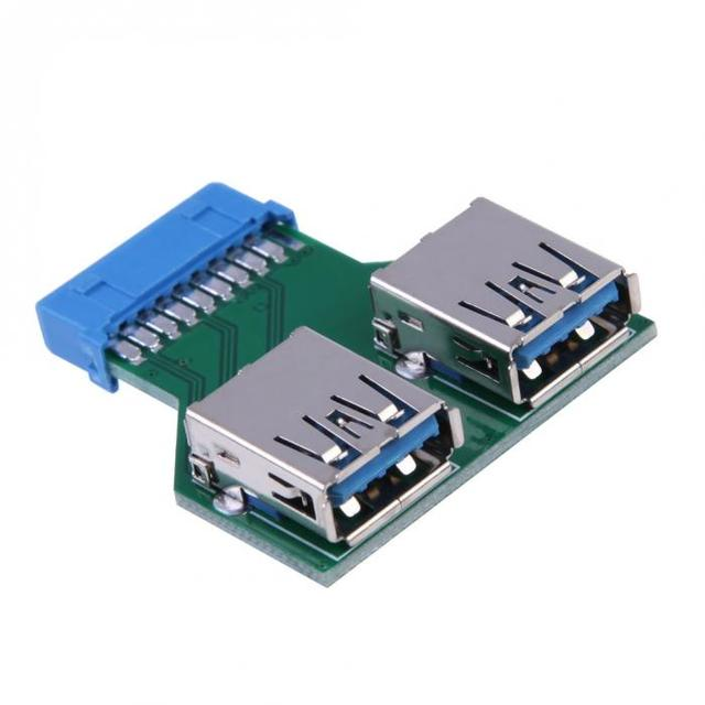 19pin Usb 3 0 Header Female To 2 Port Female Adapter