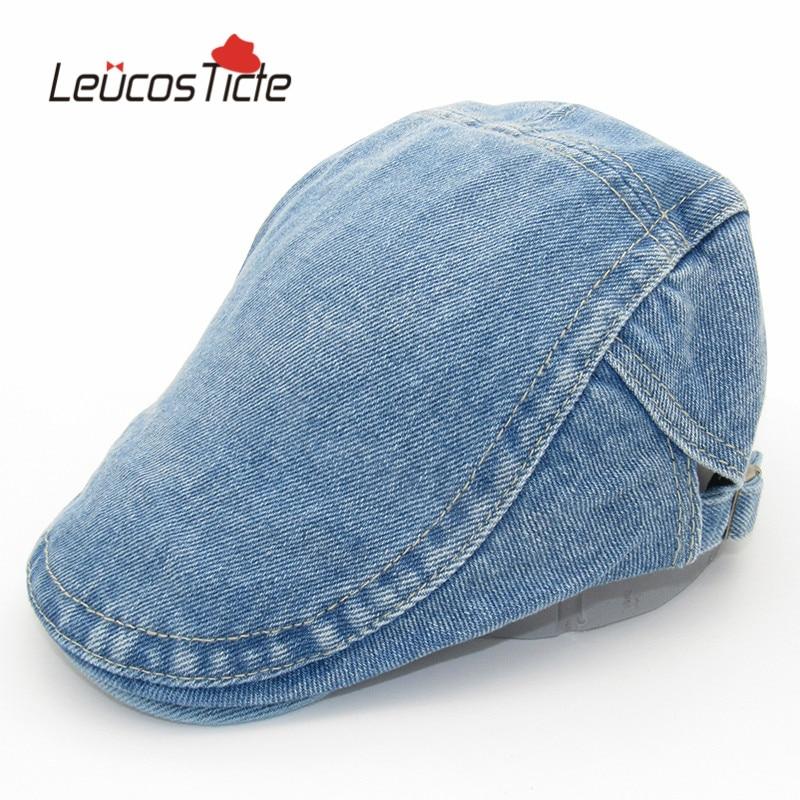 Brand New High Quality Baseball Caps Fashion Denim Retro Men and women Cap Beret Hat Trend Fashion Summer Big