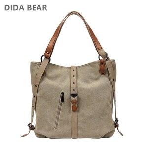Image 2 - Moda płócienna torba na ramię kobiety plecak szkolne plecaki dla nastolatek dziewczyny kobieta plecak Bolsas Mochilas duże torby podróżne