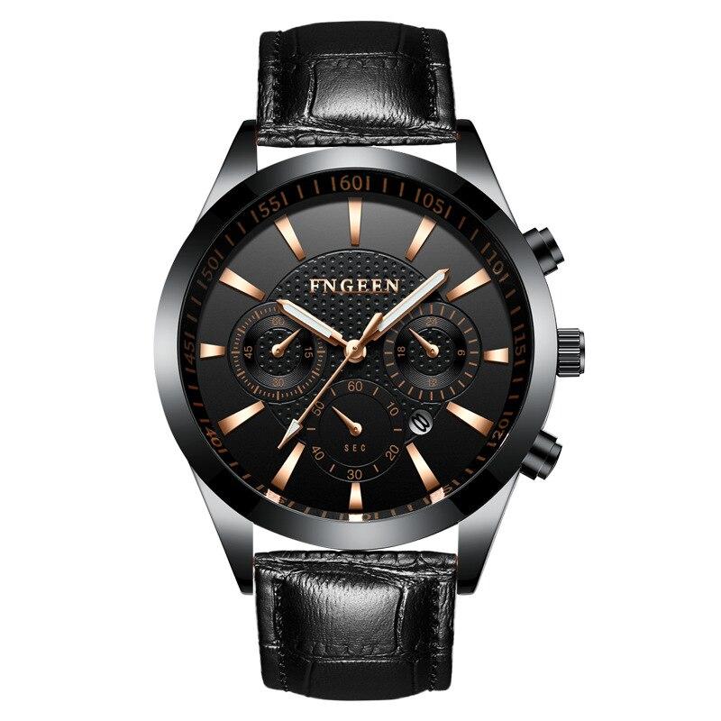 Waterproof Men 39 s Watch Glamour Six pin Design Luminous Watches Men 39 s Business Quartz Watches Free Shipping Sale in Quartz Watches from Watches