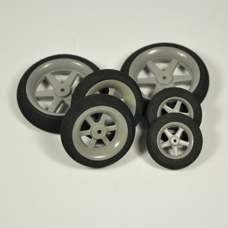 1 Pair of Super Light Foam Sponge Wheels 30mm 35mm 40mm 45mm 50mm For RC Airplane Model Replacement Parts