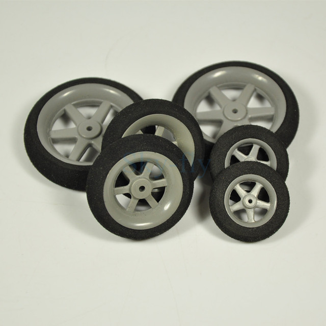 Us 2 99 Aliexpress 1 Pair Of Super Light Foam Sponge Wheels 30mm 35mm 40mm 45mm 50mm For Rc Airplane Model Replacement Parts From Reliable