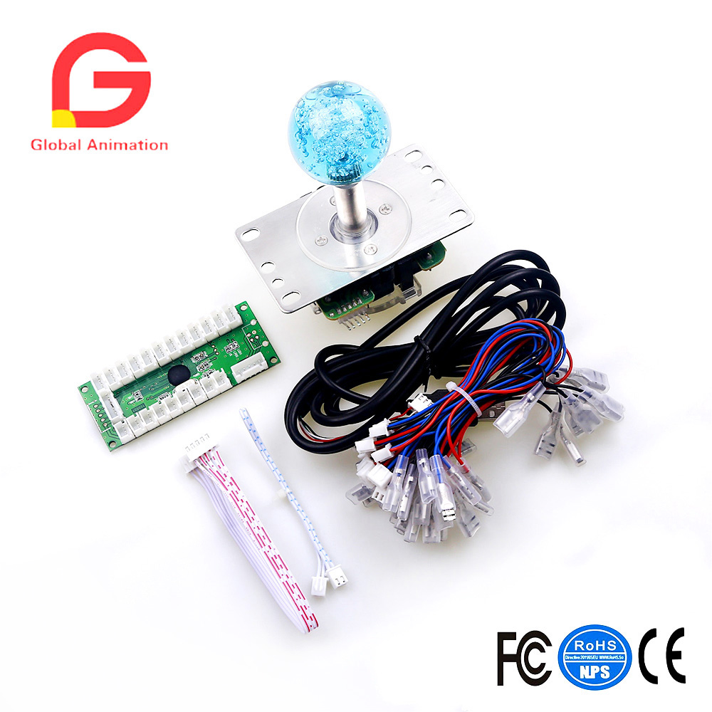 LED Arcade DIY Parts USB Encoder + Joystick For MAME & Raspberry Pi