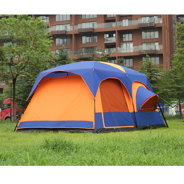 2019 on sale 6 8 10 12 person 2 bedroom 1 living room awning sun shelter party family hiking beach fishing outdoor camping tent