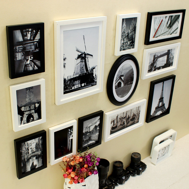 Retro nostálgico pintura Collage marco Vintage marco cuadro de la ...