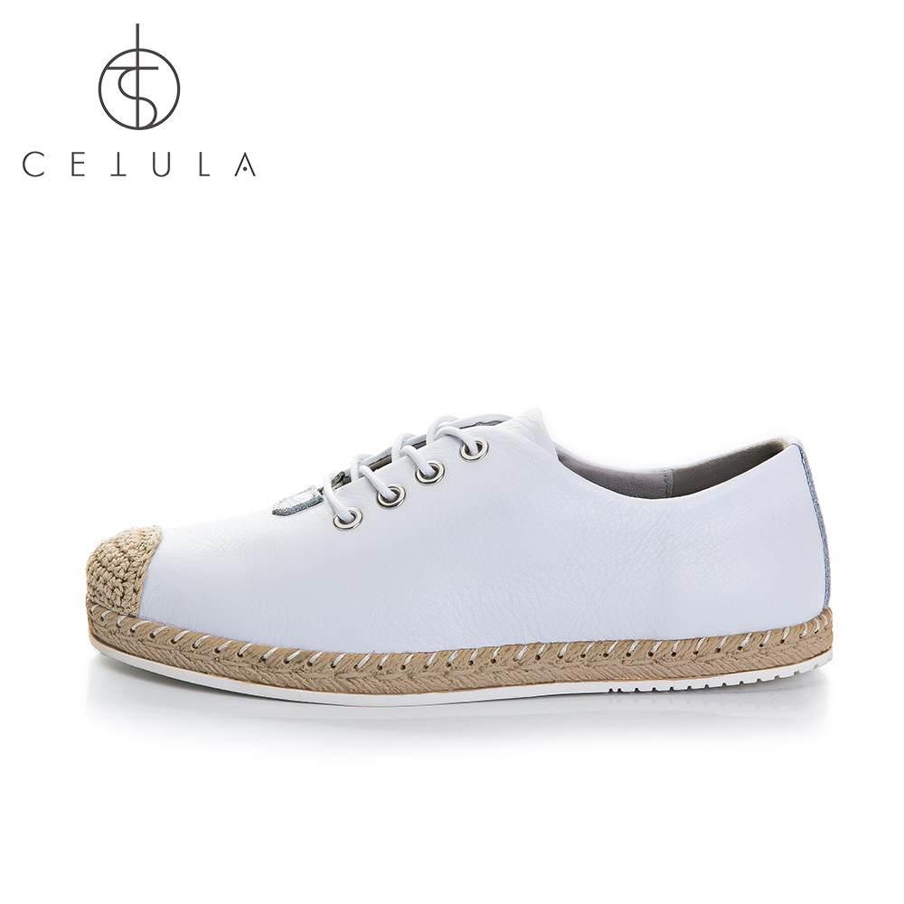 Cetula 2018 S / S Handgjorda Lace Up Women Smooth Calf Leather Linned - Damskor - Foto 3