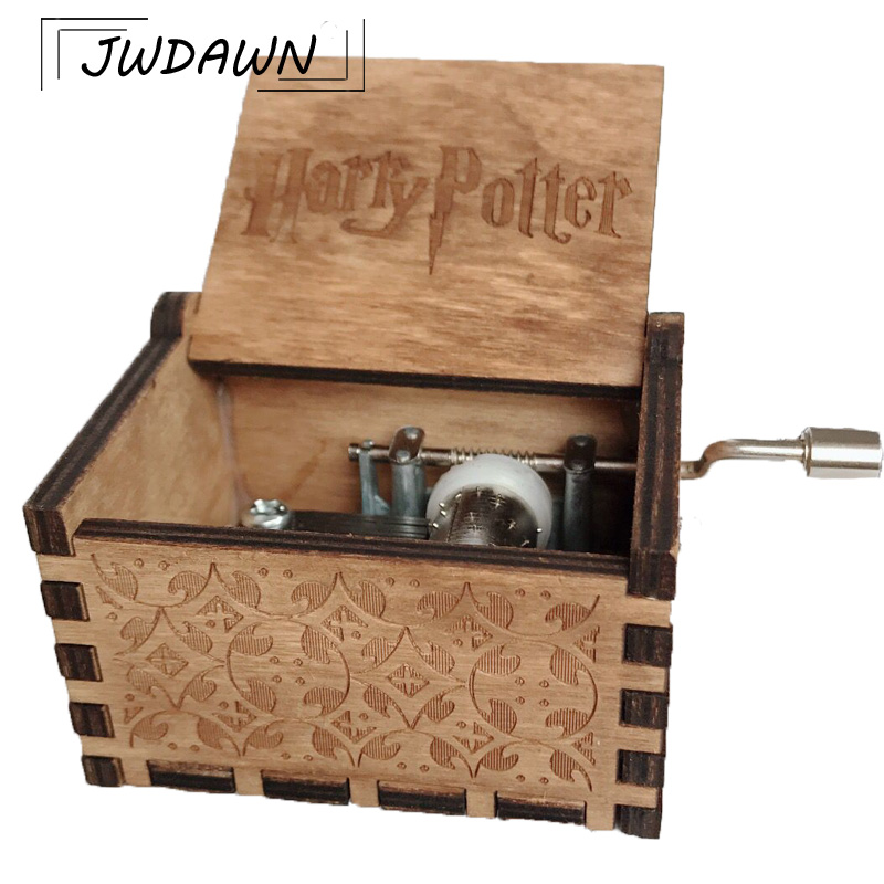 Harry Potter Action Figures Carved Wooden Music Box 2018 Hot Antique Crank Theme Music Box Game of Thrones / Star Wars Box
