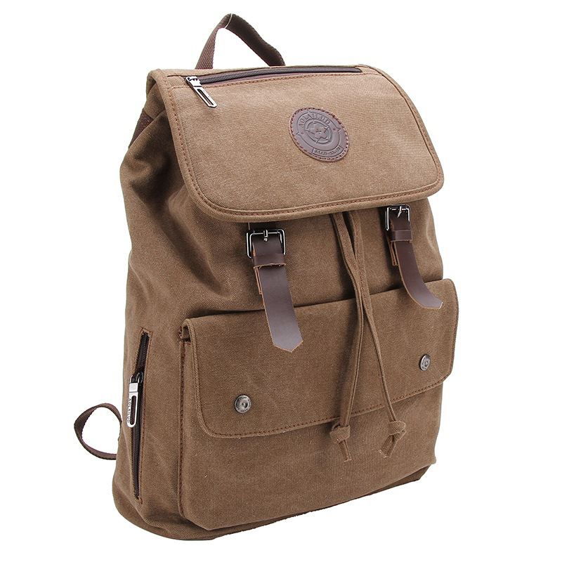 AOLAILUD Brand 2018 New style Setro wear canvas bag male casual trend student Bag travel men's canvas movement backpack #305-L