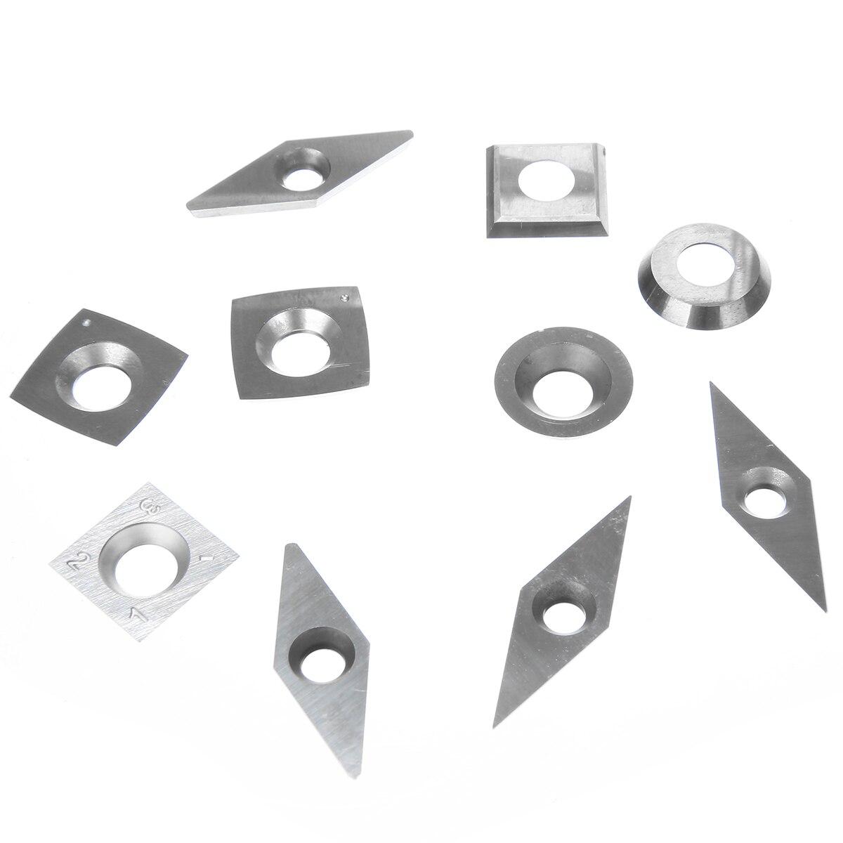 10 pçsset Lâminas de Diamante Quadrado Redondo
